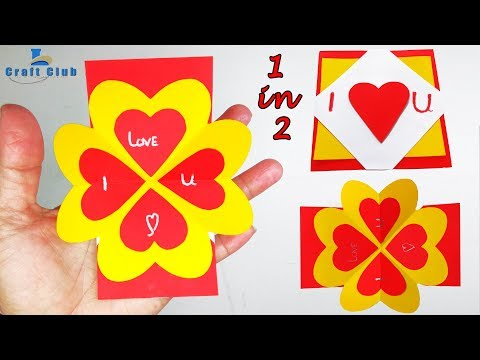 How to Make Valentine's Day Pop Up Card (I Love You Card) Lina's Craft Club