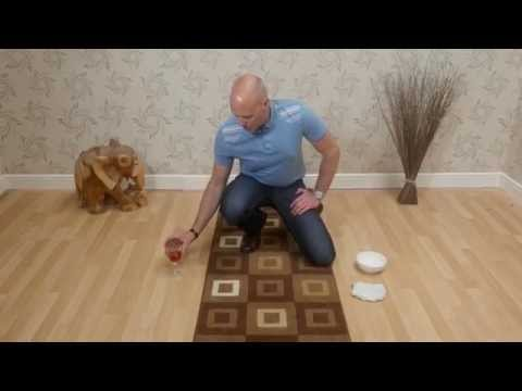 Cleaning spillages from your rugs and carpets