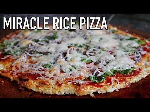 Miracle Rice Pizza   Guilt Free Pizza