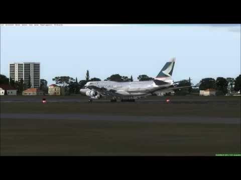 FSX Boeing 747-400BCF Cathay Pacific Malpensa(LIMC) to Rome Fiumicino(LIRF)
