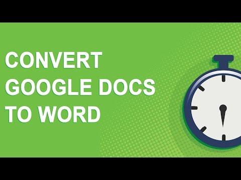 Convert Google Docs to Word