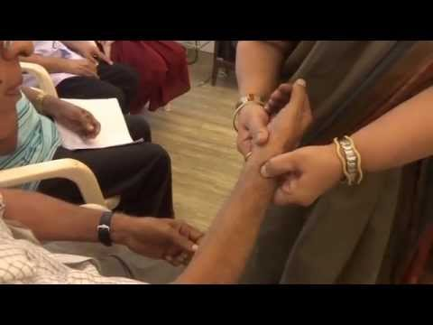 Parivarthan's Reiki Workshop - Technique for tremor