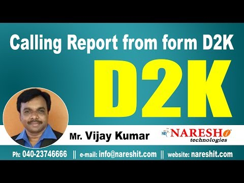 Calling Report from form D2K | D2K Forms and Reports Tutorial | Mr. Vijay Kumar