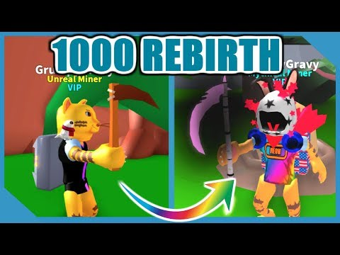 WHAT HAPPENS WHEN YOU HIT 1000 REBIRTH - ROBLOX MINING SIMULATOR