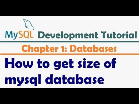 How to get size of mysql database - MySQL Tutorial   MySQL Developer Tutorial