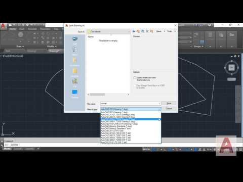 Managing files or drawings (create, Save, Open) in AutoCad 2017 | AutoCad Basics Tutorial | (Part-1)