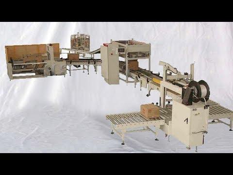 edible oil bottles encasing fully automatic cartons end packaging line máquina de aceite comestible