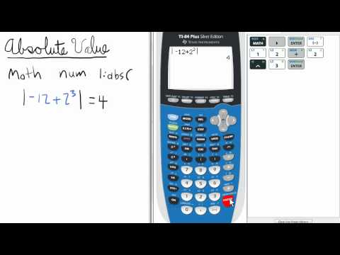 Absolute Value ABS   TI 84 Calculator    Top Priority Functions