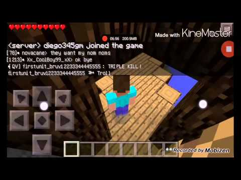 Let's Play w/ Tom Cablo Minecraft PE 0.8.1 (Multiplayer Server) - PvP Battle Arena (Episode 1)