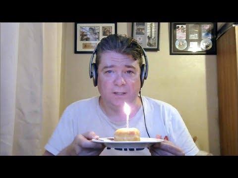 ASMR MUKBANG Eating A Birthday Raspberry Jam Doughnut With Cream