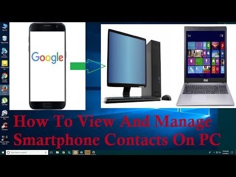 How To View And Backup Your Smartphone Contacts On PC