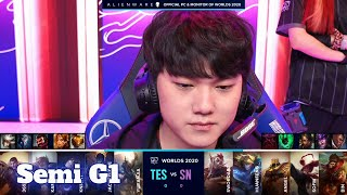 TES vs SN - Game 1 | Semi Finals S10 LoL Worlds 2020 PlayOffs | Top Esports vs Suning G1 full game
