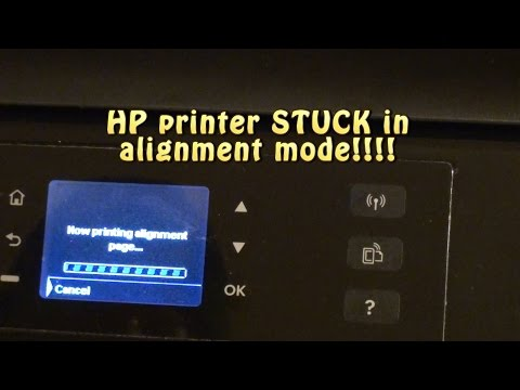 HP printer stuck in ALIGNMENT mode!!