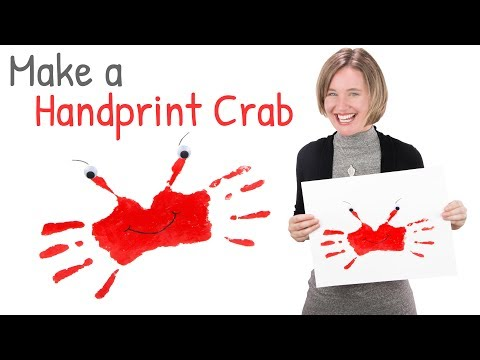 DIY Handprint Art | Finger Painting for Kids | How to Make a Crab