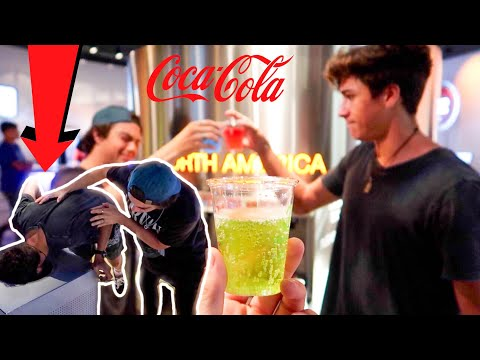 DRINKING EVERY SODA IN THE WORLD CHALLENGE *GRAPHIC THROWING UP*