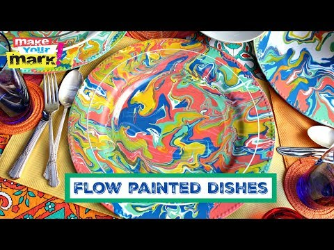 Flow Painted Dishes