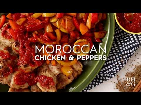 Moroccan Chicken and Peppers  | Fast & Fresh | Better Homes & Gardens