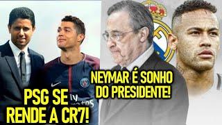 PSG se RENDE A CR7! - NEYMAR O SONHO do REAL MADRID! - COUTINHO de VOLTA pro LIVERPOOL!