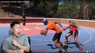 FLIGHT WITH CROSSOVER OF THE YEAR! REACTING TO FLIGHT VS FEMALE HOOPER 1V1 BASKETBALL!