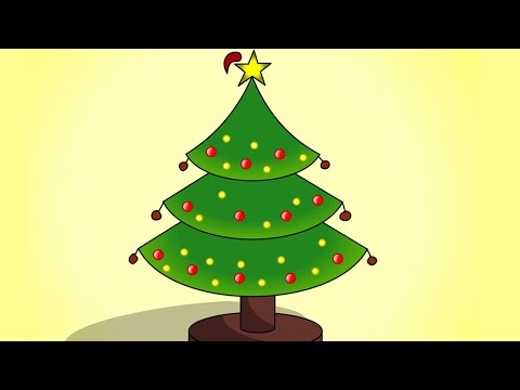 Easy to Draw Christmas Tree