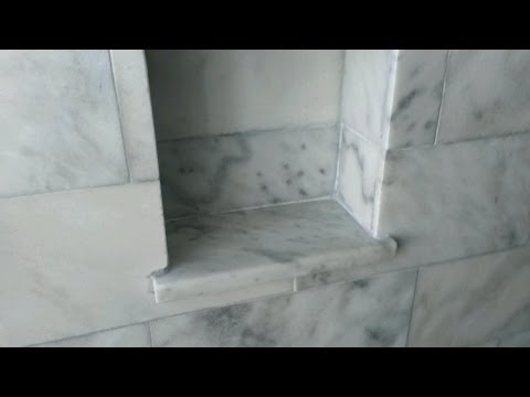 How to make a shower niche or shelf