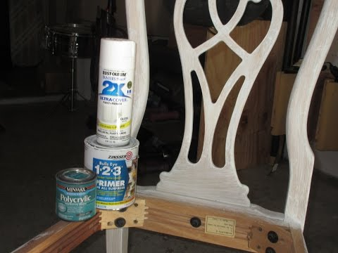 How to paint furniture that has a glossy finish(without sanding!)