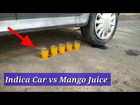 CAR vs MANGO JUICE || Experiment with Tata Indica car ||