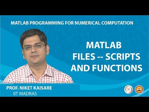 MATLAB Files -- Scripts and Functions