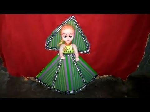 How to decorate doll from plastic pipes for little kids./प्लास्टिक के पाईप से गुड़िया को कैसे बनाएँ