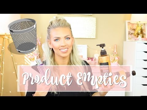 LAST Product Empties of 2016 | Happy Holidays!