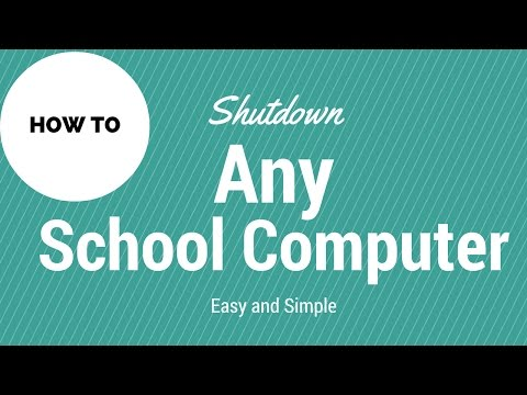 How to remotely shut down any school computer (Tutorial)