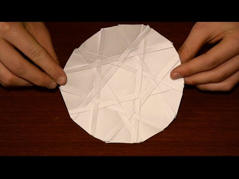 Origami Five-Fold Two-Layer Weave by Robert J. Lang (4K video test)