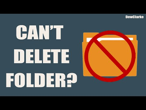 How To Delete A Folder That Won't Delete [SOLVED] Windows 7/8/10