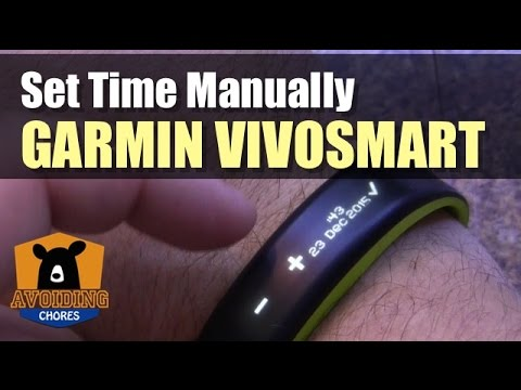 Garmin Vivosmart - How To Adjust Time Settings