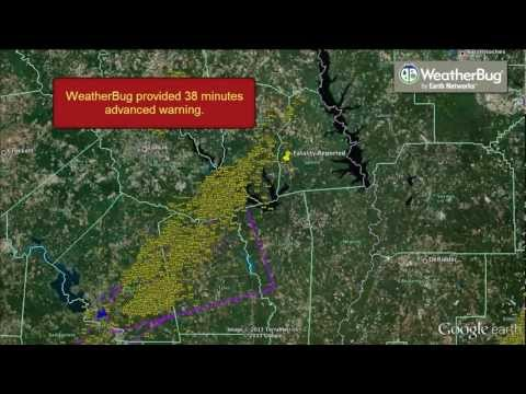 Feb 21, 2013: WeatherBug Alerts Faster to Severe Weather in Sabine County Texas