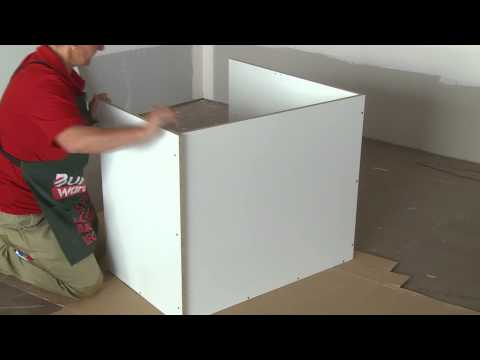 How To Build A Corner Cabinet - DIY At Bunnings