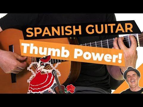 Spanish Flamenco Guitar Lesson   Fun Thumb Exercise   YOUTUBE