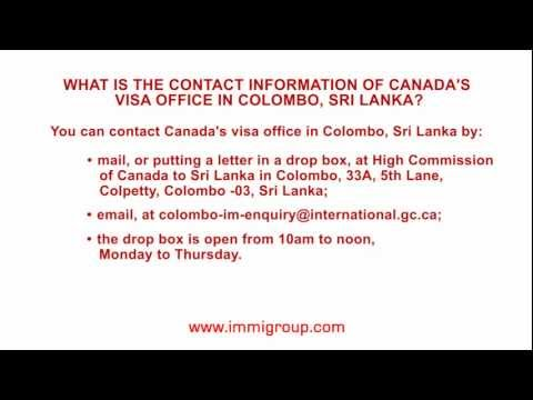 What is the contact information of Canada's visa office in Colombo, Sri Lanka?
