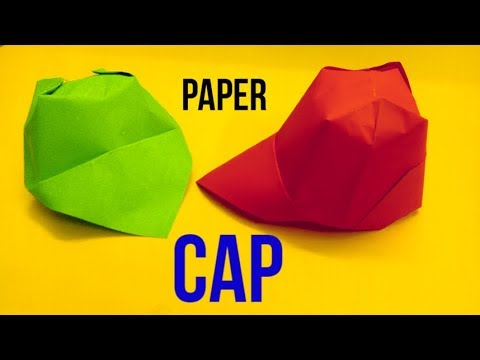 How to make an easy Origami Paper CAP (paper HAT)