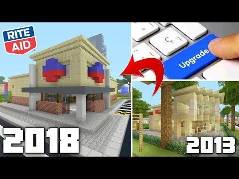 Upgrading Minecraft Rite Aid 5 Years Later!