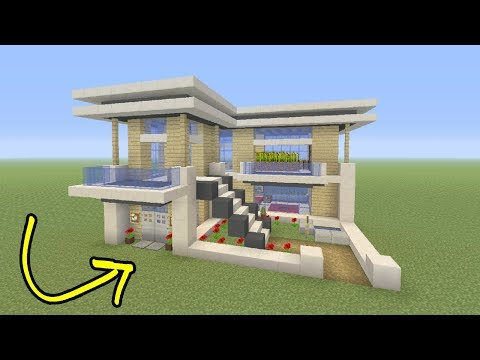 Minecraft Tutorial: How To Make A Easy Small Modern House