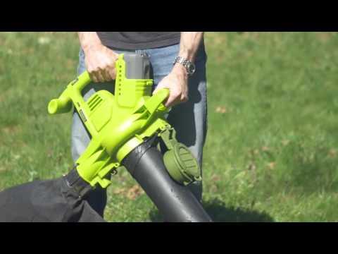 Sun Joe 40V 3-in-1 Blower Vacuum Mulcher w/ Brushless Motor - iONBV