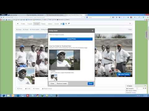 How to create a group upload photos and change cover and profile image