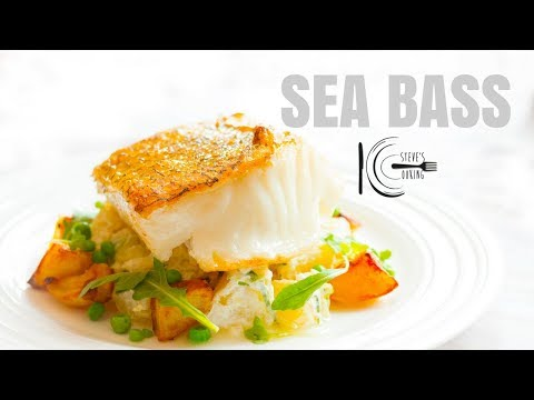 WILD SEA BASS WITH HORSERADISH TARRAGON POTATO SALAD | stevescooking