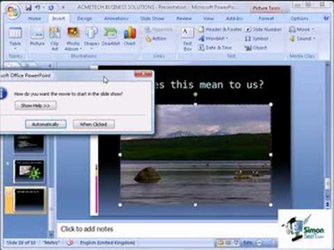 Inserting Video in a PowerPoint 2007 Presentation