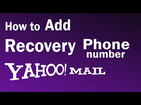 How To Add Recovery Phone In Yahoo   Yahoo Recovery Phone Number