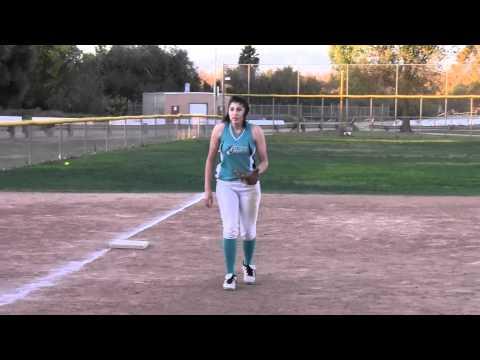 Brittany Martinez 3rd Base Softball Skills Video