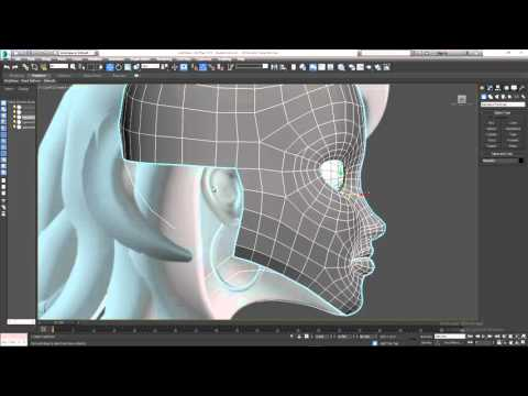 Character Modeling Part 8 Building the jaw and ear