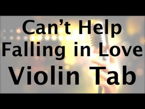 Learn Can't Help Falling in Love by Elvis on Violin - How to Play Tutorial