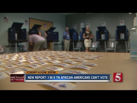 Report: Felon Voter Laws Keep 1 of 5 TN African Americans From Voting